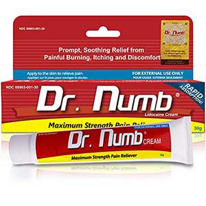 Dr. Numb Maximum Topical Anesthetic Anorectal Cream